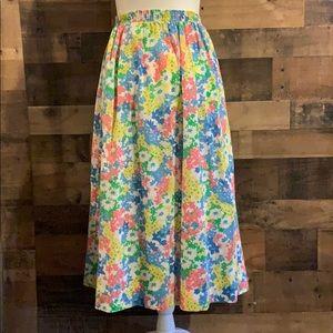 Vintage 80's floral print skirt Gordon's for Saks